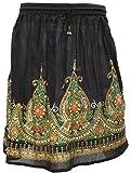 Femmes Jupes Indiennes Longueur Genou Paillettes Inde Vêtements
