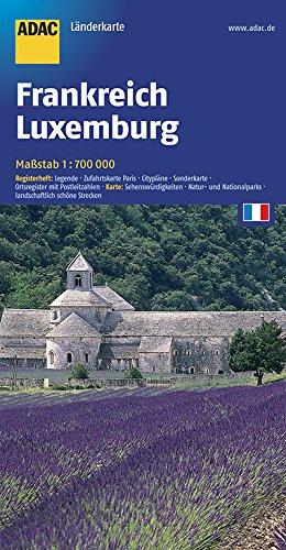 ADAC Länderkarte Frankreich, Luxemburg 1:700 000