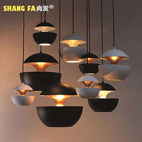 DYBLING Artistic Creative Personalized Balcony Led Modern Minimalist Pendant Lights ceiling lamp industrial wind single Head 35cm , black queen