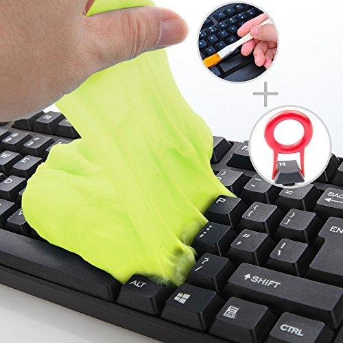 Tastatur Reiniger, DoriUp Tastatur und Maus Reinig+ Schlüsselabzieher Keycap Abzieher+ Statische Reinigungsbürste, Home & Office Reinigungsmasse für Ihren PC, Handy und andere Dinge des Alltags
