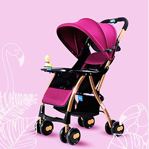 Showgg passeggino, ombrello pieghevole leggero e leggero, compatto giocattolo ammortizzatore a quattro ruote