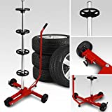 Felgenbaum fahrbar bis 225er Reifen   bis max. 225   leichtgängige Rollen   - Modellauswahl (225mm und 295mm) mit und ohne Schutzhülle   Reifenständer Reifenhalter Felgenhalter Autoreifen