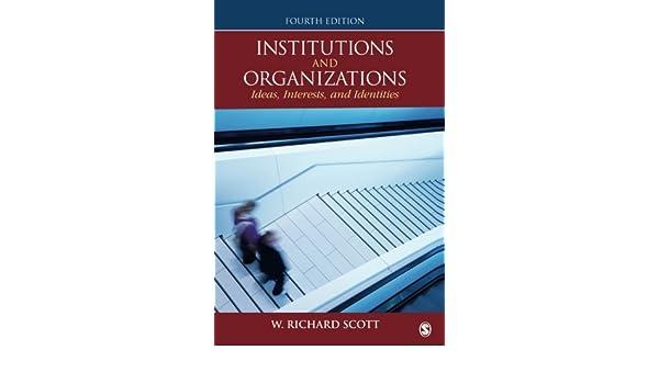 Institutions And Organizations: Amazon.de: W. Richard Scott: Fremdsprachige  Bücher