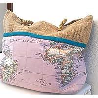 Bolso mujer mochila mapamundi