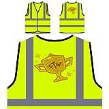 Dessin Animé Vintage De Bande Dessinée De Ftw Veste de protection jaune personnalisée à haute visibilité o897v