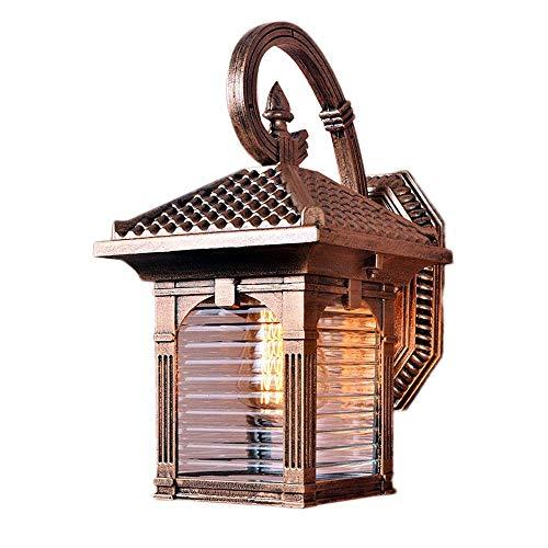 Viktorianischen Design Kronleuchter (Zhang Yan ZYY 1-Light Outdoor Wandlaterne viktorianischen Bronze Finish mit Glas Wandleuchte Lampe außerhalb Garten Patio Pfad Beleuchtung wasserdicht IP55)