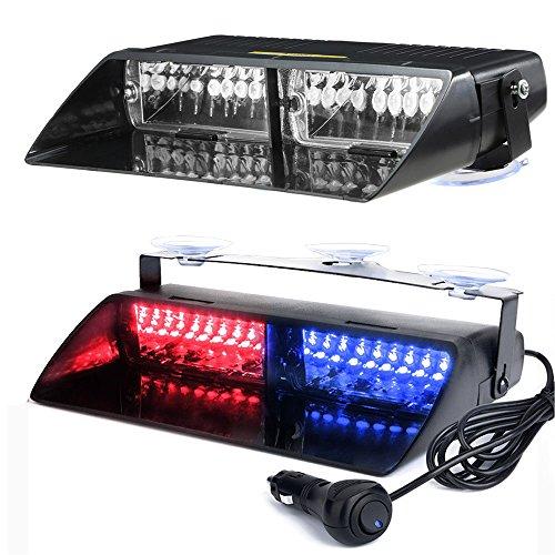 kkmoon 16Leds Blanc 18Modes voiture camion d'urgence flash Dash Flash Lumière Clignotante