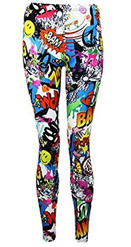 FASHION CHARMING-Frauen Bang Wow Zap Comic Cartoon Drucken