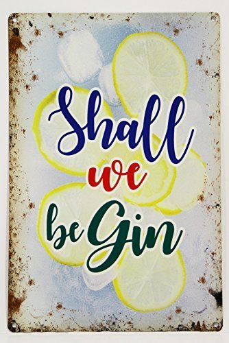 RKO We Be Gin (Begin), lustig G&T Tonic gift-parent - 9 x 6.5 cm (Magnet) (Chinesisch-tonic)