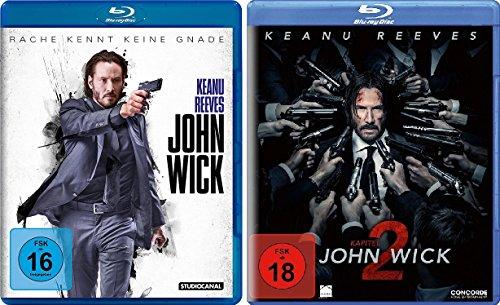 Bild von John Wick 1 + Kapitel 2 im Set - Deutsche Originalware [2 Blu-rays]
