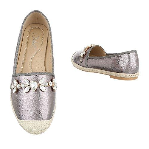 Donna Design argento top Low grigio Ital gtwSx1