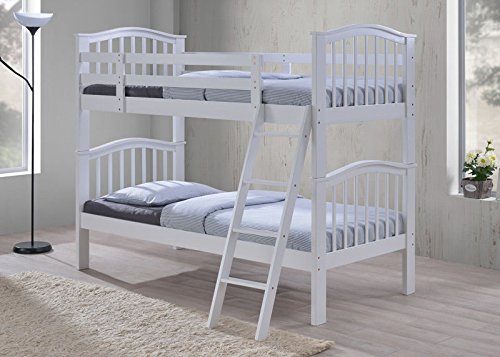 BRAND NEW Sandhurst wooden bunk bed available in White