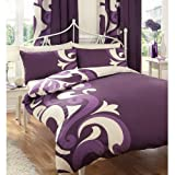 Gaveno Cavailia Luxury GRANDEUR Bed Set With Duvet Cover and Pillow Case, Berry, Polyester-Cotton, King