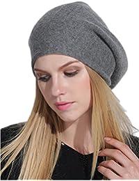 Prettystern - LUXE Bonnet Beanie chapeau Pure Cachemire 2-fils Unicolore - Disponible en 6 Couleurs