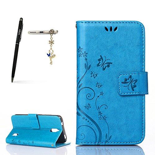 Huawei Y625 Hülle, Huawei Ascend Y625 Schutzhülle, Alfort 3 in 1 Lederhülle Fashion Design Premium PU Leder Hohe Qualität Tasche Case Cover Kasten Abdeckung Wallet für Huawei Y625 / Huawei Ascend Y625 5.0