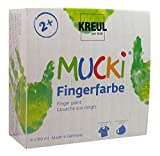 KREUL Mucki 2314 - Fingerfarben, 4er Set, 150 ml