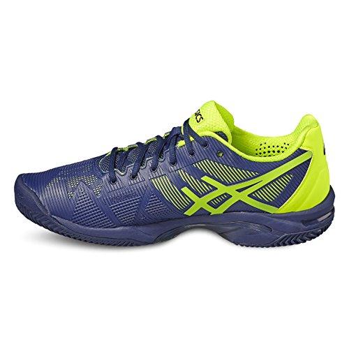 Asics Gel-Solution Speed 3 Clay, Chaussures de Tennis Homme bleu foncé