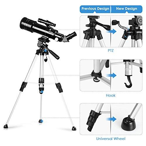 INTEY - Telescopio Astronomico Ultra-alto Claro De 70 MM Para Telescopio Celestron Adecuado Para La Visualización Terrestre Y Uso Astronómico(Con Un Mochila)
