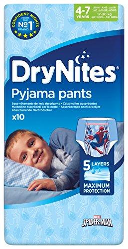 Huggies DryNites Boy hochabsorbierende Pyjamahosen Unterhosen für Jungen 4-7 Jahre, 10 Stück