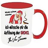 Personalisierte Namenstasse Weihnachten zb. mit Adolf und den Nachnamen bedruckt. Einfach Anpassen klicken und den Namen eintragen.