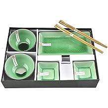 Tokyo Design Studio Glassy Green Sushi Set completo–8pezzi–Sushi stoviglie set