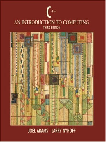 C++: An Introduction to Computing PDF Books