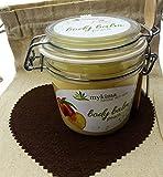 mykima Kiss of Nature Body Balm Pfirsich | frisch, fruchtiger Feuchtigkeitsspender mit Joghurtextrakt, Jojoba und Olivenöl sowie Vitamin E 200ml