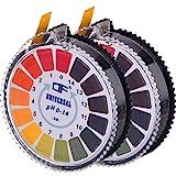 Universal pH Testpapierstreifen pH Teststreifen Rolle, pH Wert Voller Bereich 0-14, 2 Rollen, 16.4 ft/Rolle
