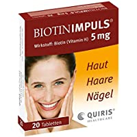 BIOTIN IMPULS 5 mg Tabletten 20 St Tabletten preisvergleich bei billige-tabletten.eu