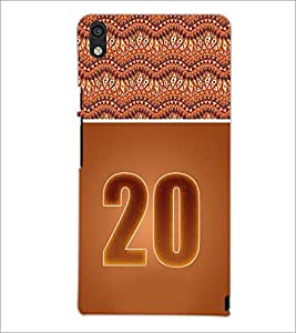 PrintDhaba Numerology Number 20 D-3655 Back Case Cover for HUAWEI ASCEND P6 (Multi-Coloured)