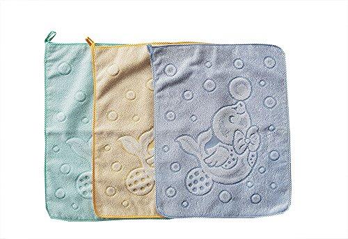 Salviette asciughini asciugamani set tre pezzi asilo nido scuola materna colori da bambino bimbo maschio prodotto in italia 100% cotone