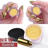 samlike 2G/Box Splitter-Clavo Glitter polvo Shin Ning Espejo polvo de maquillaje de DIY cromo pigmento