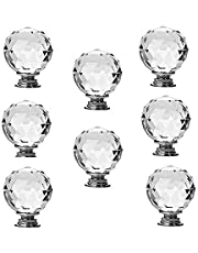 JP Hardware Crystal Glass Knobs, 8x40mm - Pack of 8