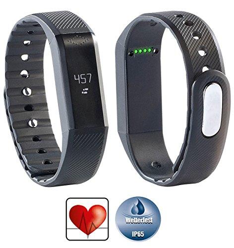 Newgen Medicals Fitnesstracker mit Apps: Bluetooth-4.0-Fitness-Armband FBT-55.w mit Nachrichten-Anzeige (Armbanduhr Fitness-Band)