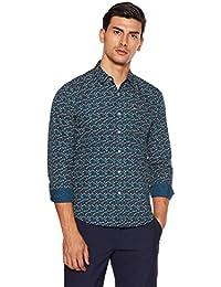 Lee Men's Geometric Print Slim Fit Casual Shirt