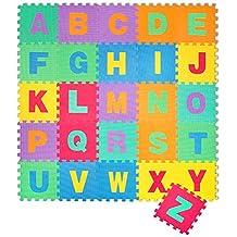 Puzzle goma EVA de 26 piezas | Alfombra infantil puzzle de letras | Alfombra puzle (