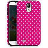 Samsung Galaxy S4 Outdoor Hülle Tough Case Cover Polka Pünktchen Pink Muster