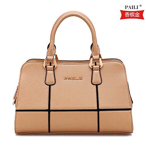 Mme sac à bandoulière simple sacs de placages Champagne gold