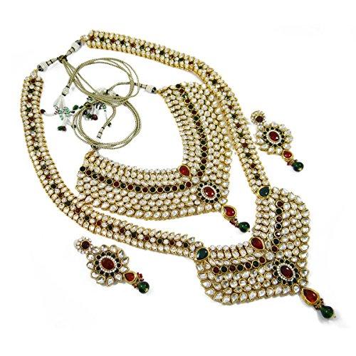 Indienne Bollywood Mariage Ensemble Mariée Cadeau De Bijoux Design Ethnique Pour Les Femmes rouge
