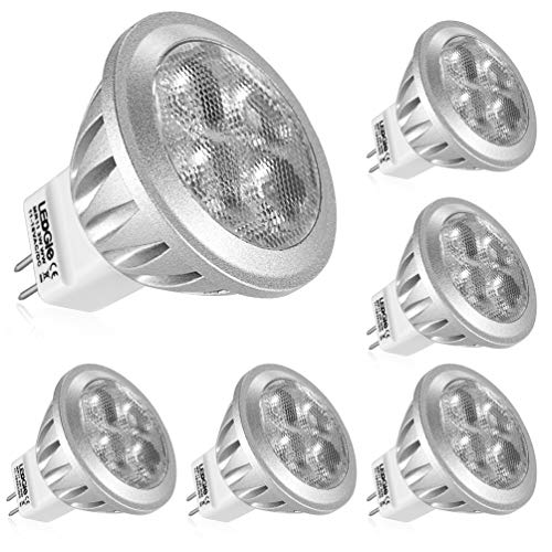 LEDGLE GU4 MR11 LED 12V Reflektor LED Spot Strahler,3W ersetzt 36W Halogenlampen, 260LM,Warmweiß 2700K,Nicht dimmbar, 6er-Pack -