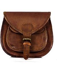 Anshika International Original Leather Women's Sling Bags For Girls , Women - Brown - 11 * 9 * 3