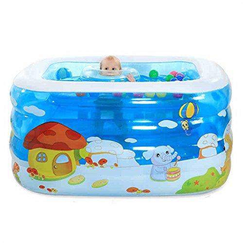 Badewanne Höhenverstellbarer Umgebungsschutz Aufblasbare Badewanne / Pool Paddling Pool Sea Ball Pool für Kinder / Baby mit Fuß / Elektrische Pumpe Aufblasbare Badewanne ( ausgabe : Electric Pump , größe : 120*102*75cm ) 3-fuß-aufblasbares Pool