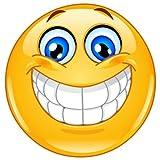 easydruck24de 1 Smiley-Aufkleber smile I kfz_020 I rund Ø 9 cm groß I Emoticon Sticker lachend für Laptop Tür Motorrad Roller Auto wetterfest