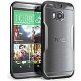 Funda Supcase para HTC One M8 - Funda protectora de acabado de primera calidad para HTC One 2014 - Color Negro y Transparente