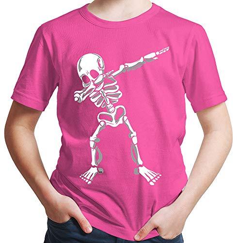 HARIZ  Jungen T-Shirt Dab Skelett Dab Teenager Trend Halloween Plus Geschenkkarten Pink 164/14-15 Jahre