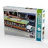 Bunter Bus in Cartagena, Kolumbien 1000 Teile Puzzle Quer