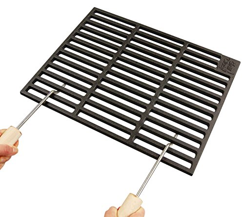 Grillclub Gusseisen Grillrost 67 x 40 cm 2 Abnehmbare Handgriffe Guss, Gasgrill, Rost, Grill Buschbeck