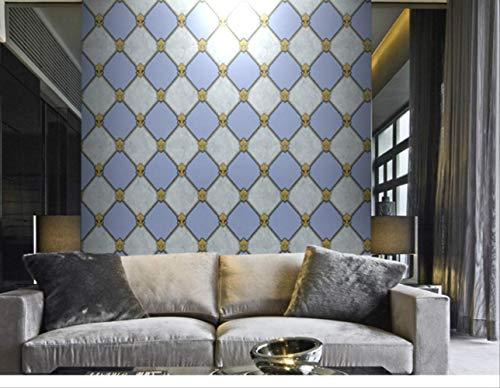 qingci Modern Metallic Geometric Graphic Trellis Tapete Fliesenstil Vinyltapete Dunkelgrau Für Wohnzimmer Schlafzimmer Wohnkultur 5.3㎡ 02 -