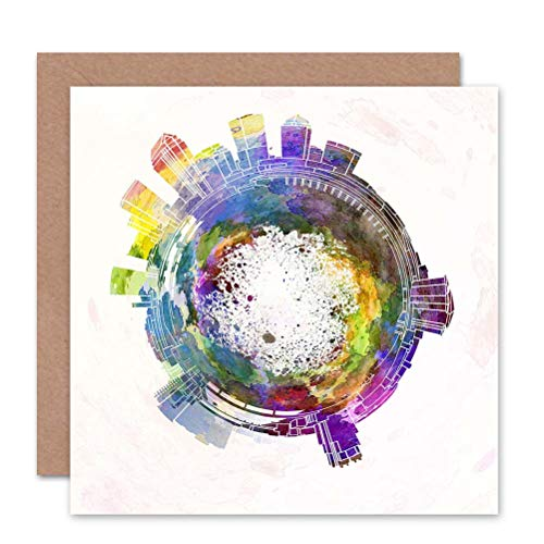 Wee Blue Coo LTD Card Greeting Little World City Skyline Tampa Florida Gift