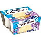 Nestlé Bébé P'tit Gourmand  Saveur Chocolat Blanc - Laitage dès 8 mois - 4 x 100g - Lot de 6